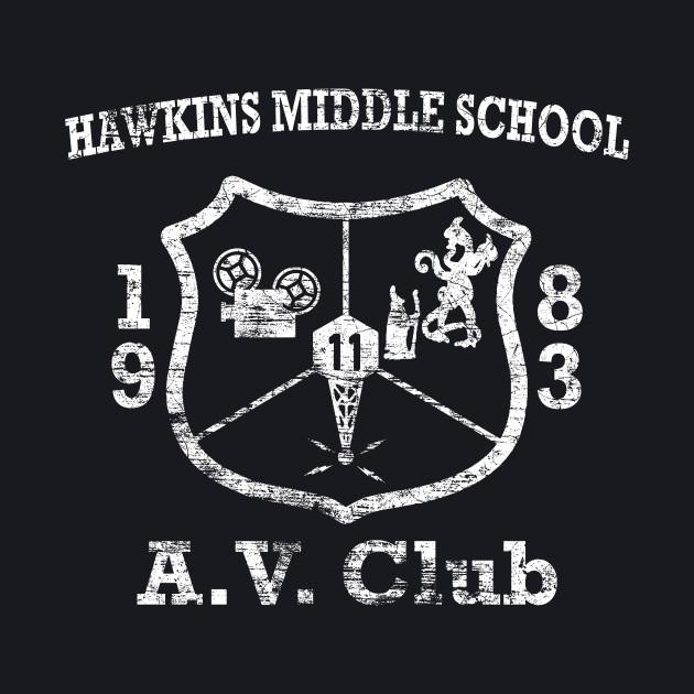 Hawkins Middle School A.V. Club Weathered White