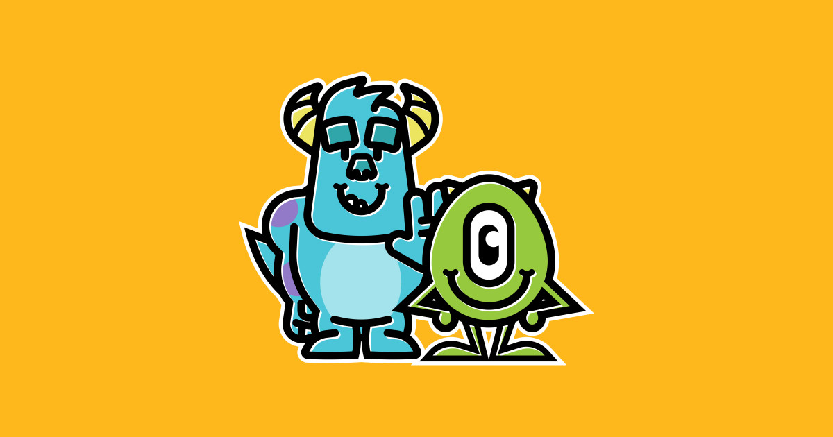 Mike & Sully - Monsters Inc - Sticker   TeePublic