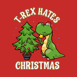 T Rex Christmas.T Rex Hates Christmas T Shirts Teepublic