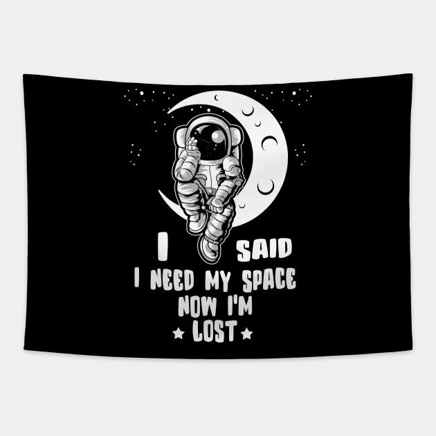 I Said I Need My Space, Now I'm Lost
