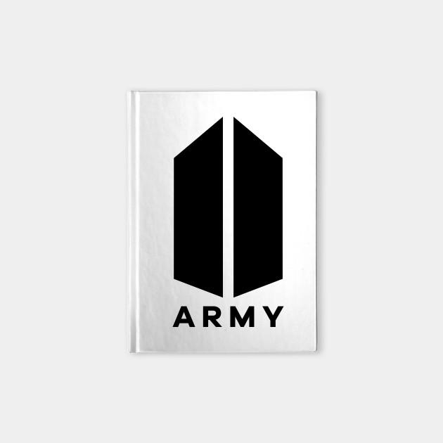 bts army logo bts bangtan boys kim taehyung v jin kim notebook teepublic bts army logo