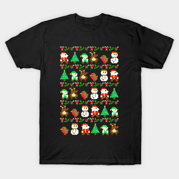 8-Bit Retro Video Game Ugly Christmas Sweater - Christmas - T ...