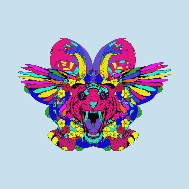 Psychedelic animal mashup