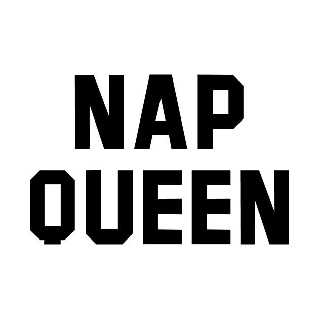 Nap Queen Black Text