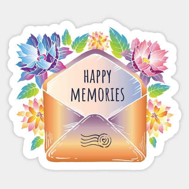 Happy memories envelope - Letter - Sticker | TeePublic