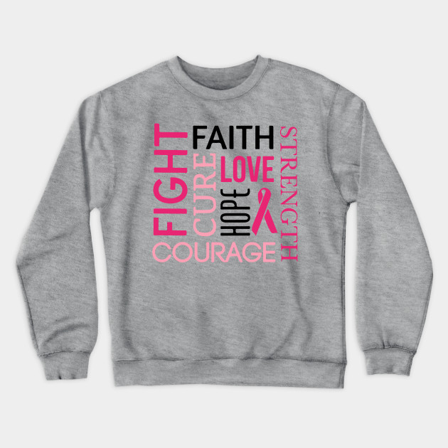 Faith Love Hope Hoodie Breast Cancer Awareness Pink Ribbon Support Sweatshirts