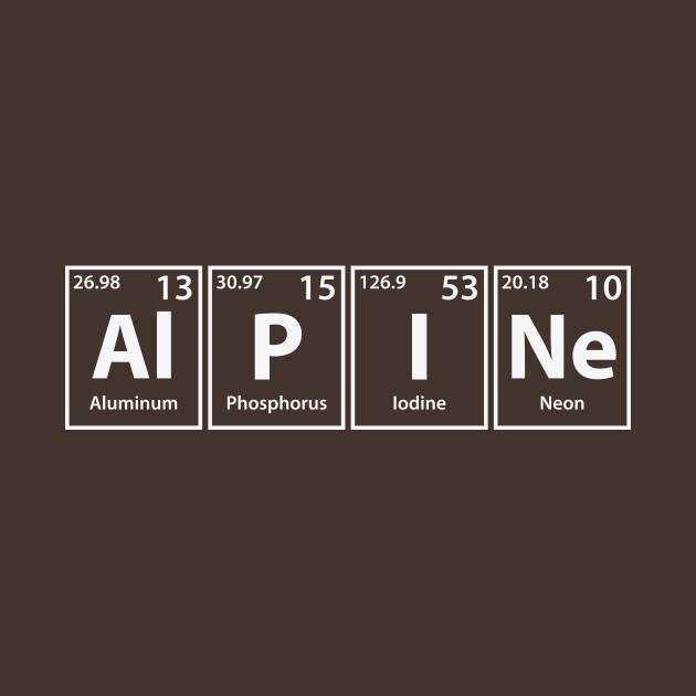 Alpine (Al-P-I-Ne) Periodic Elements Spelling