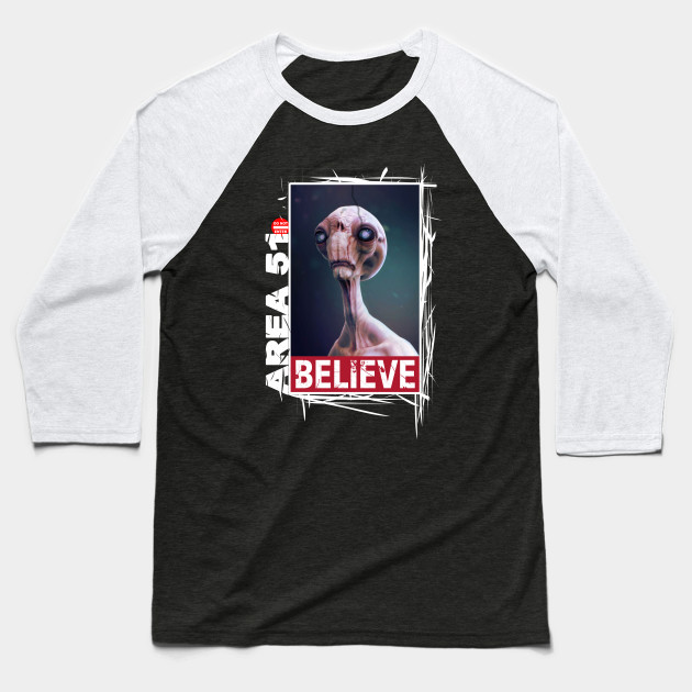Area 51, I Believe! Alien Collection #009b Baseball T-Shirt