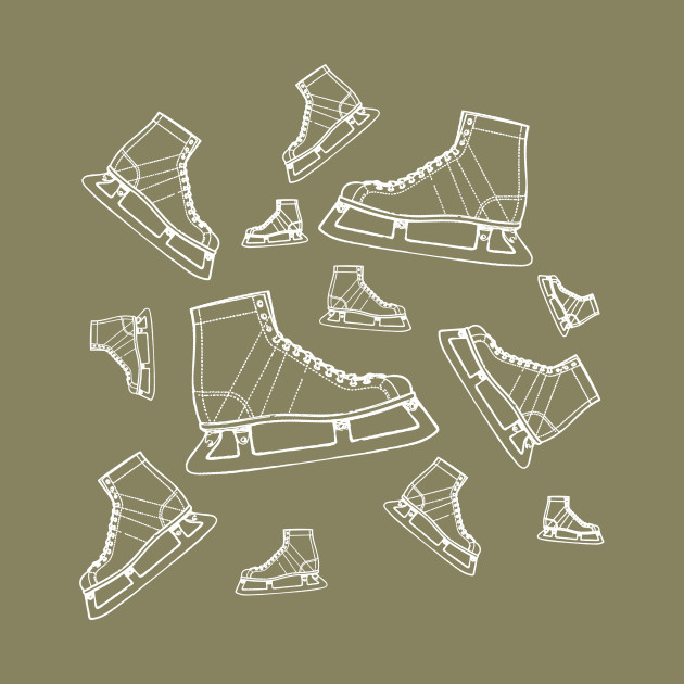 Line Drawing Lots of Ice Skates