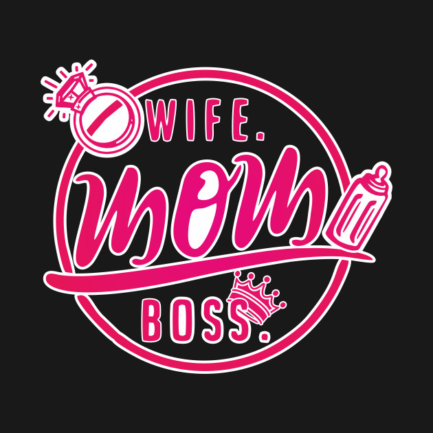 b553e88480bc8 Wife Mom Boss Shirt Mother's Day Gift TShirt Mommy Tee