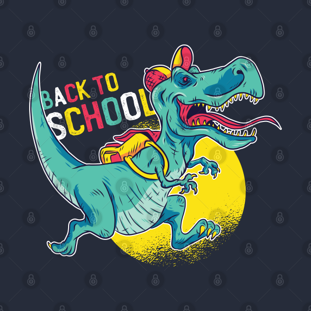 Back to school, Funny Dinosaur going to school