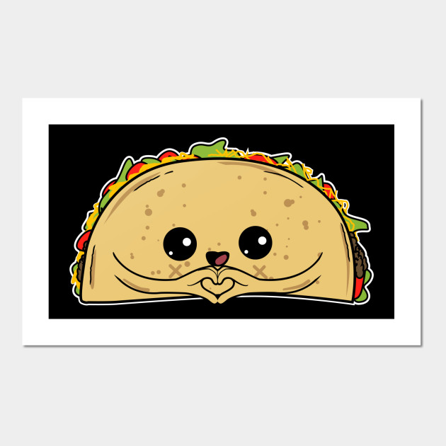 Cute Taco Heart Kids T Shirt -Mexico Food -Foodie Humor Gift - Taco ...