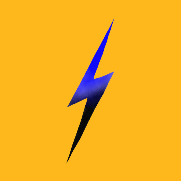 Blue-and-Black Lightning Bolt