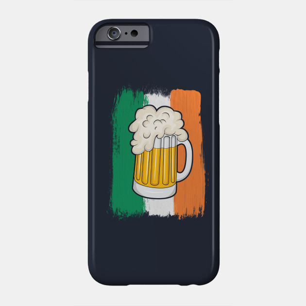 Irish Flag St Patricks Day T-Shirt Men Ireland Beer Party Phone Case