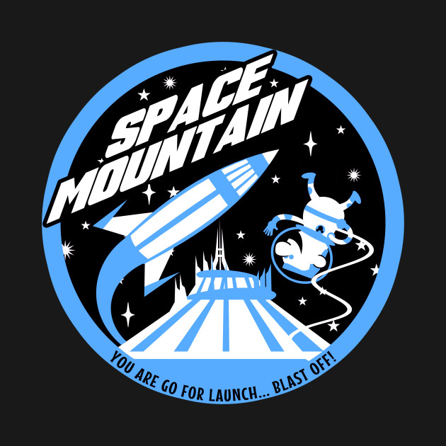 SPACE MOUNTAIN (black and blue)