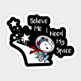 470a35ccab09 Snoopy Peanuts I Need My space Sticker
