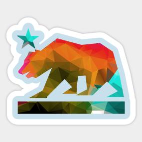 california flag stickers teepublic