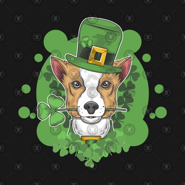 St. patrick's day cute dog illustration