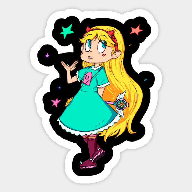 star butterfly star vs the forces of evil sticker teepublic