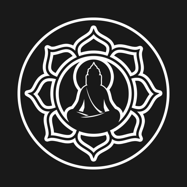 Buddha lotus flower spiritual buddha t shirt teepublic 2208168 0 mightylinksfo