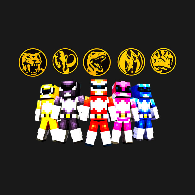 Mighty Morphin Minecraft Rangers