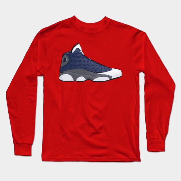Air Jordan Men 13 Flint 2020 Jordan Long Sleeve T Shirt