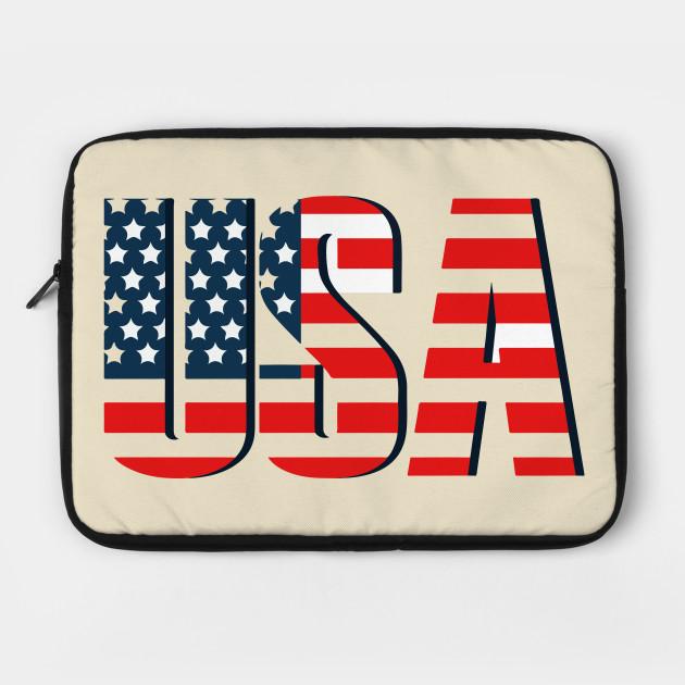 USA - Retro American Flag Stars & Stripes Men's T-Shirt