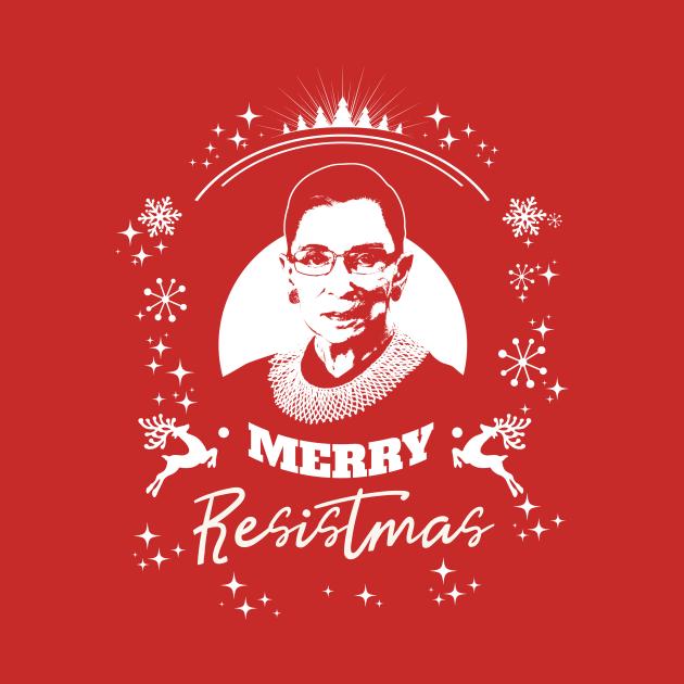 Holy RBG Happy Merry Resistmas Winter Holiday Tshirt