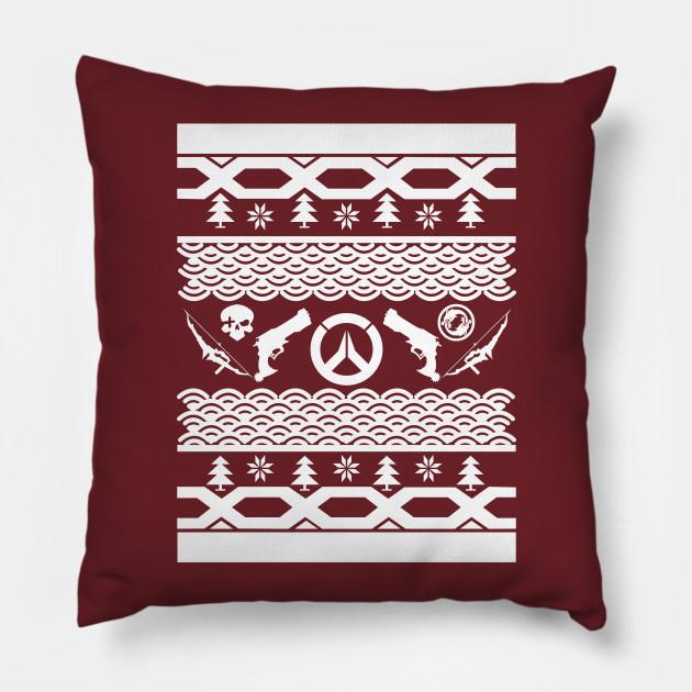 Mchanzo Ugly Christmas Sweater Overwatch Pillow Teepublic