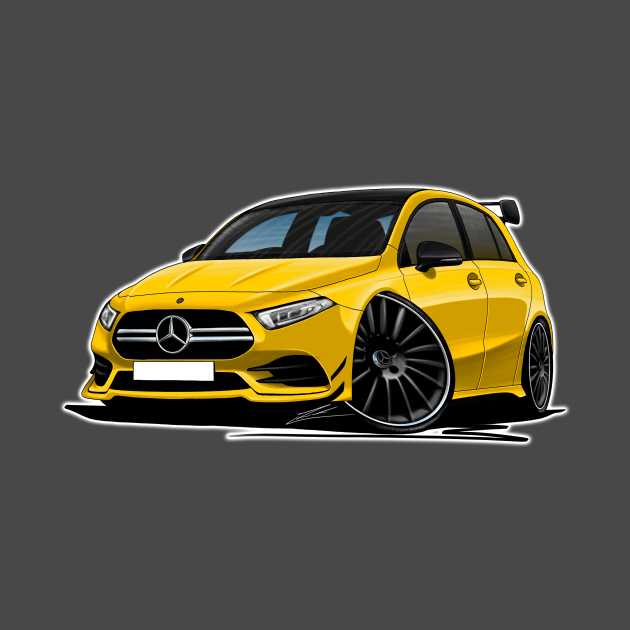 Mercedes A35 AMG Yellow