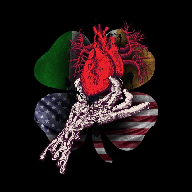 Irish blood American Heart Graphic
