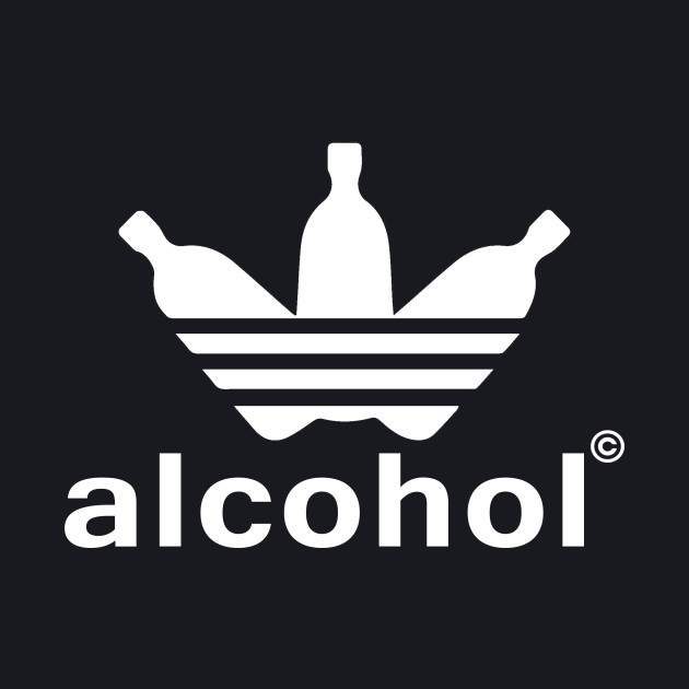 alcohol adidas shirt