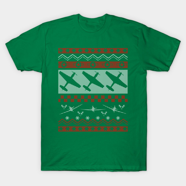 P 51 Mustang Ugly Christmas Sweater Tee P 51 Mustang T Shirt