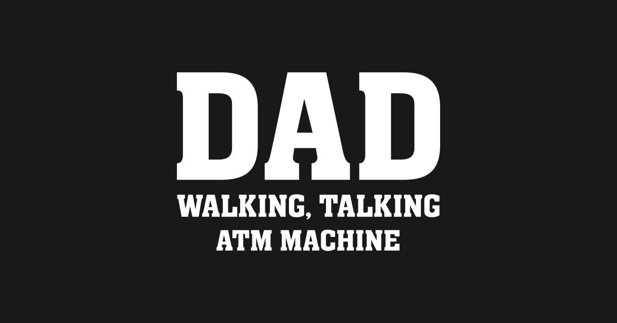 Comical Shirt Mens DAD Walking Talking ATM Machine Tank Top
