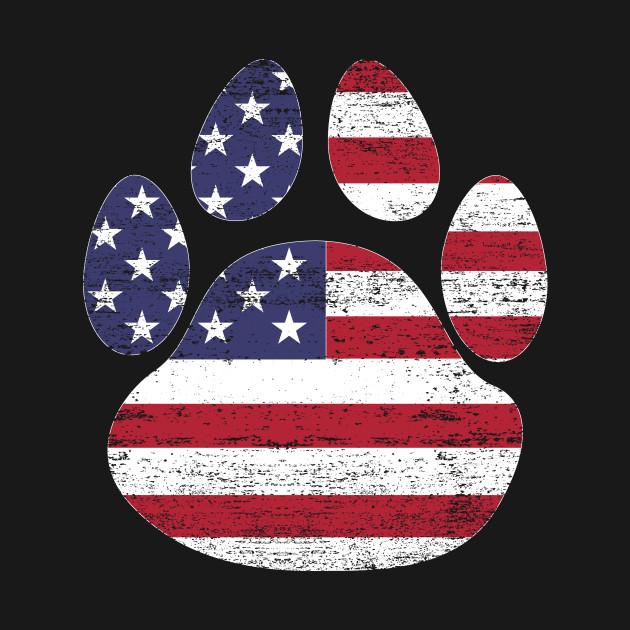 Dog Paw Print American Flag Usa Tshirt Paw Print Hoodie Teepublic