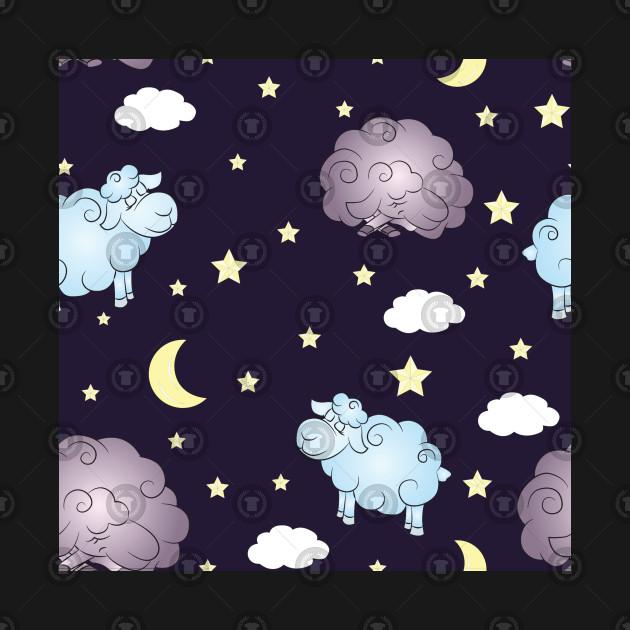 Childish Night Clouds Pattern