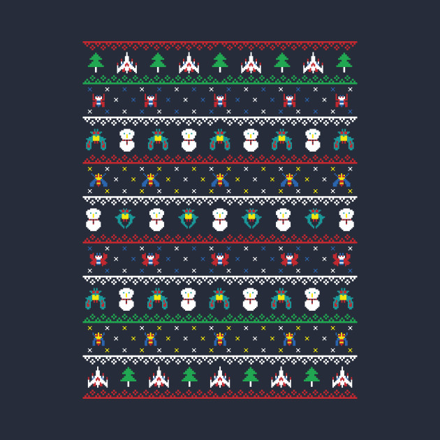 Galaga Arcade Christmas Sweater - Galaga Ugly Sweater, Christmas Sweater & Holiday Sweater