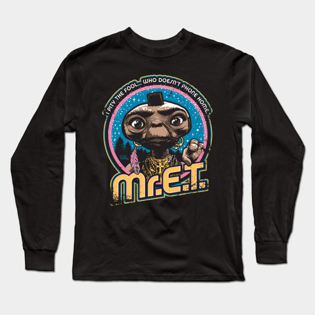 be14f2f6 Mr. E.T. - 80s Retro Vintage Mash-Up - Tv Shows - Long Sleeve T ...