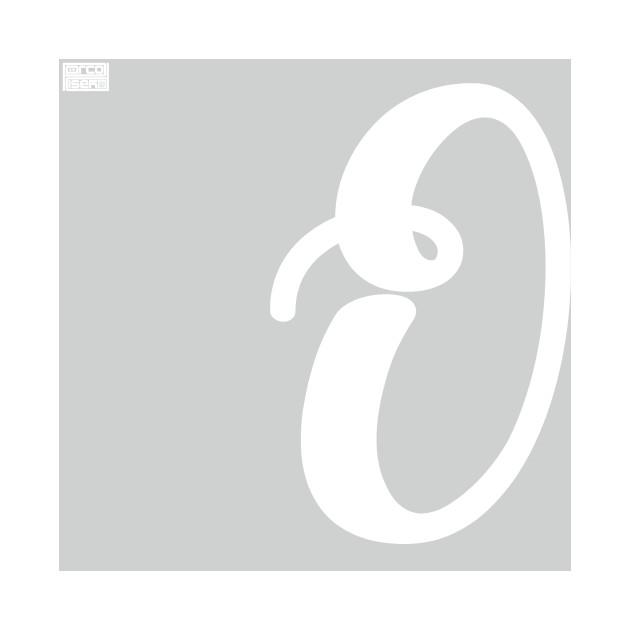 Letter O Elegant Cursive Calligraphy Initial Monogram Cursive