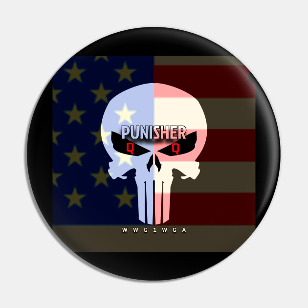 Wwg1wga Punisher Q Anon Qanon Pin Teepublic De