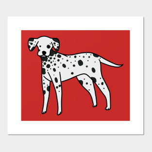 English Print Dalmation Puppy Dog Dogs Horse Art Vintage Poster Picture