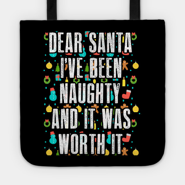 Dear Santa Christmas Xmas Nice Naughty Gift