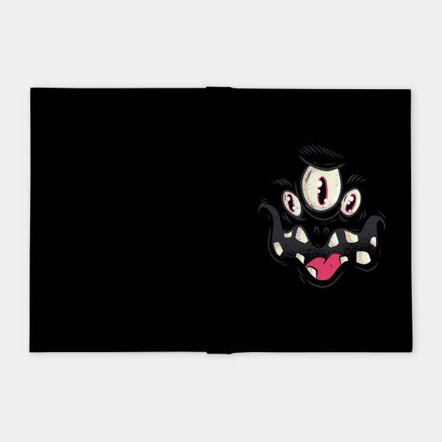 Black Monster Face