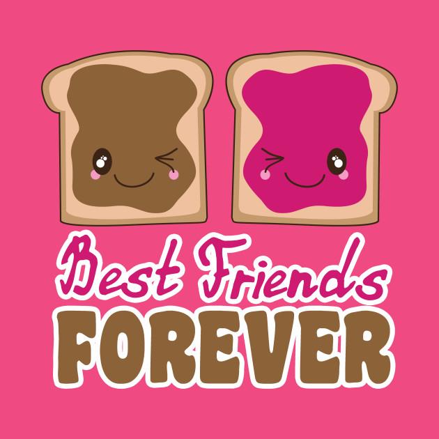 Cute Peanut er Jelly BFF Best Friends Forever Kawaii - Peanut ...