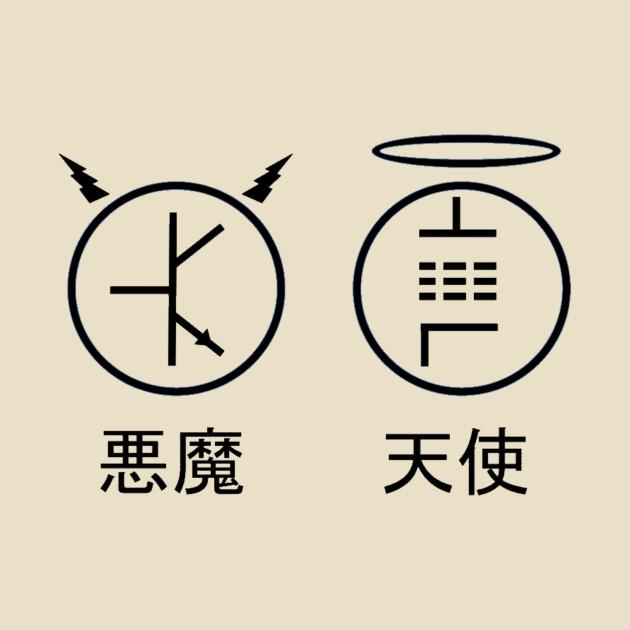 Tube Angel With Japanese Captions Rock Mug Teepublic