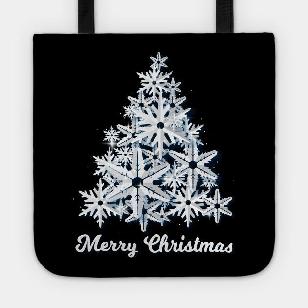 Snowflakes Christmas Tree Xmas Holidays New Year Gift Tee T-Shirt
