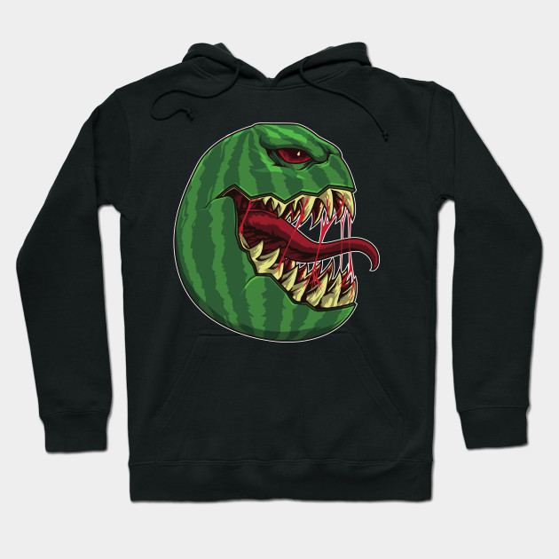 Halloween Watermelon with Fangs - Halloween Party Hoodie