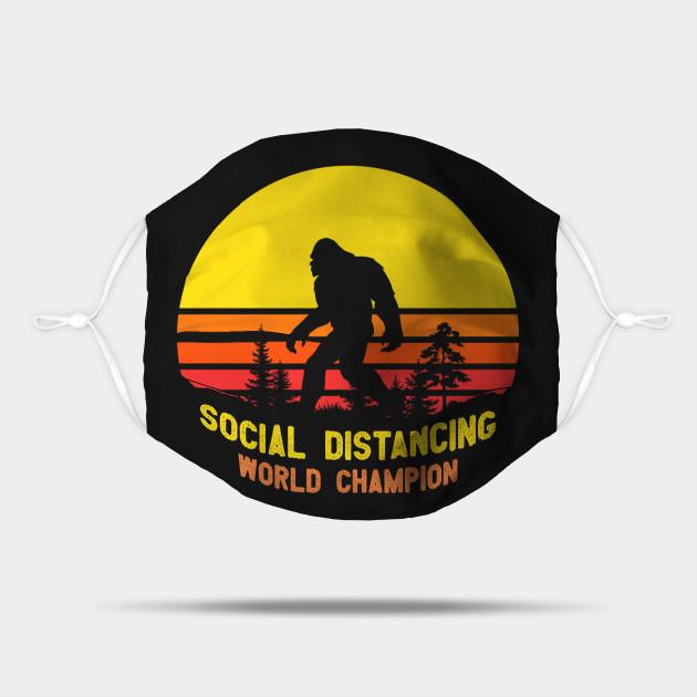 Social Distancing World Champion Funny Bigfoot