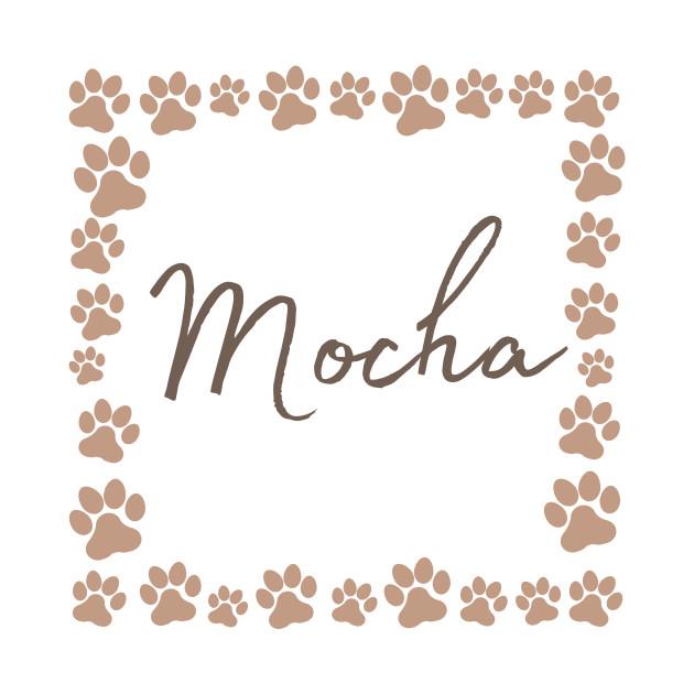 Pet name tag - Mocha
