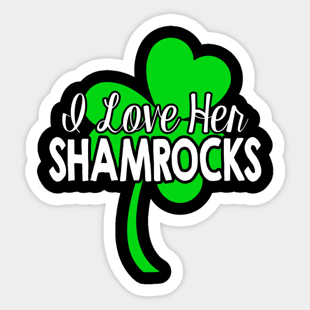 1aee5a4f St. Patty's Day I Love Her Shamrocks Funny Couples T-Shirt ...